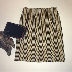 Laurel wool animal print skirt
